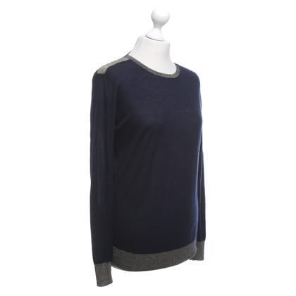 Joseph Kaschmir-Pullover in Blau/Gold