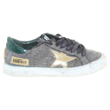 Golden Goose Goldfarbene Sneakers