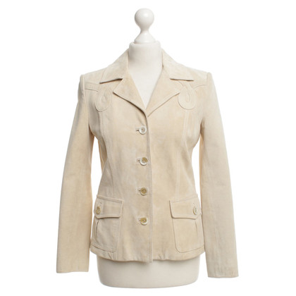 Valentino Cream colored leather jacket