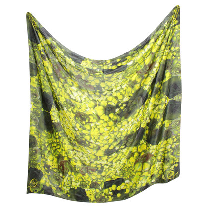 Alexander McQueen Silk scarf with floral print
