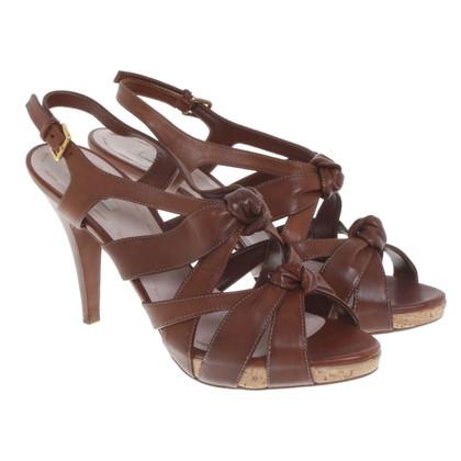 Miu Miu Leather sandals in brown