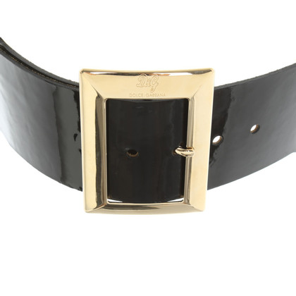 Dolce & Gabbana Patent leather waist belt