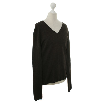 Allude Cashmere sweater in dark brown