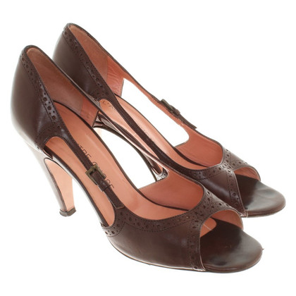 L'autre Chose Peeptoes in brown