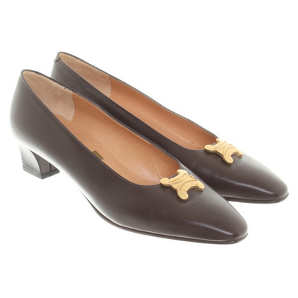 Céline pumps in marrone scuro