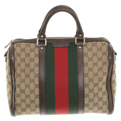 Gucci Handtasche mit Logo-Motiv