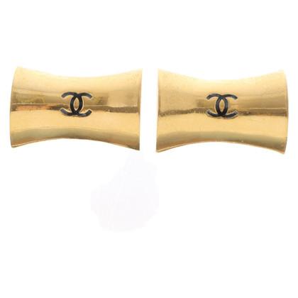 Chanel Orecchini a clip color oro con logo