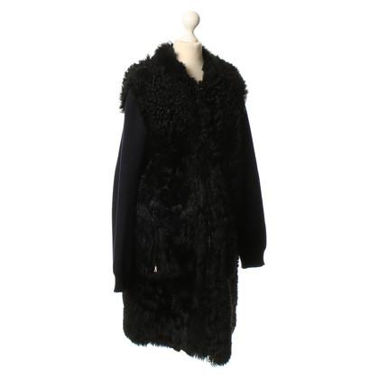 Marni Fur jacket in black/blue