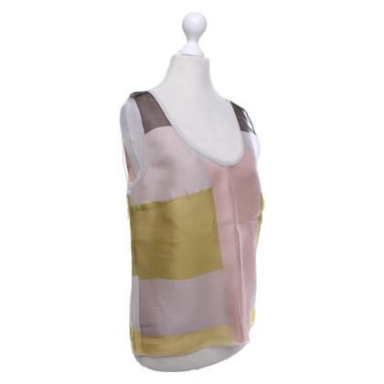 Jil Sander Silk top with pattern