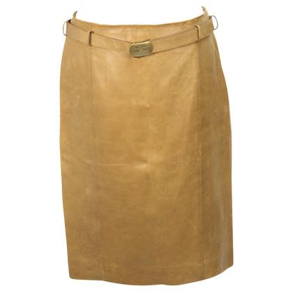 Ralph Lauren Leather skirt in brown