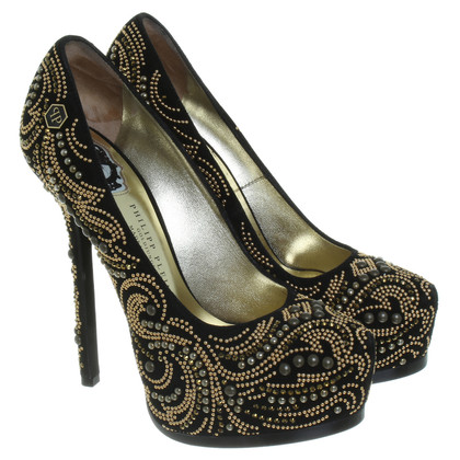 Philipp Plein Pumps in Schwarz/Gold