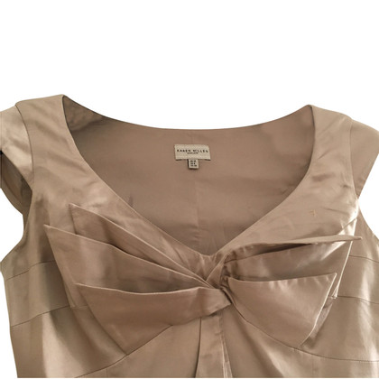 Karen Millen Silk blouse in gold