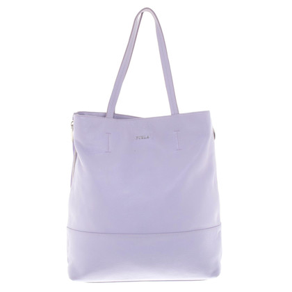 Furla Ledershopper in Flieder