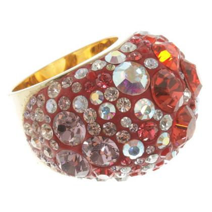 Swarovski 3 anneaux avec des pierres précieuses