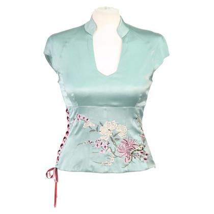 Karen Millen Silk top with embroidery