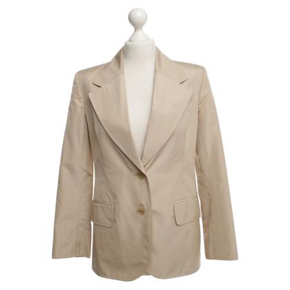 Yves Saint Laurent giacca di seta beige