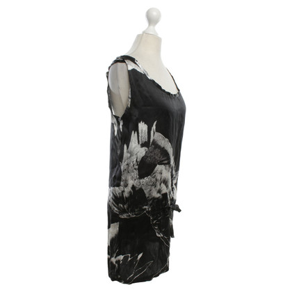 Ann Demeulemeester Silk top in black / white