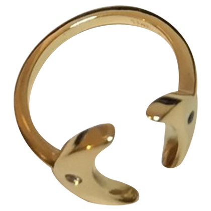 Elizabeth & James Gilded Crescent Ring