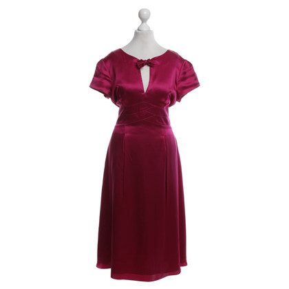 Hobbs Silk dress in fuchsia
