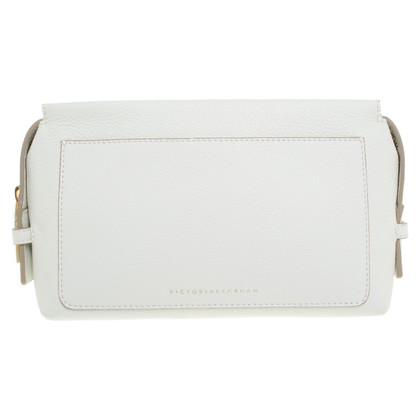 Victoria Beckham clutch in bianco