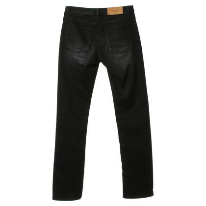 Acne Jeans neri con lavaggio