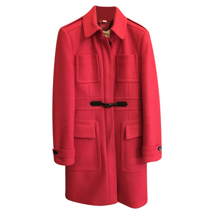 Burberry Wollmantel in Rot