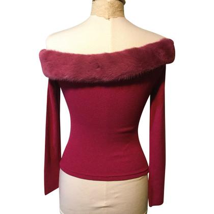 Blumarine maglione Nerzbesatz