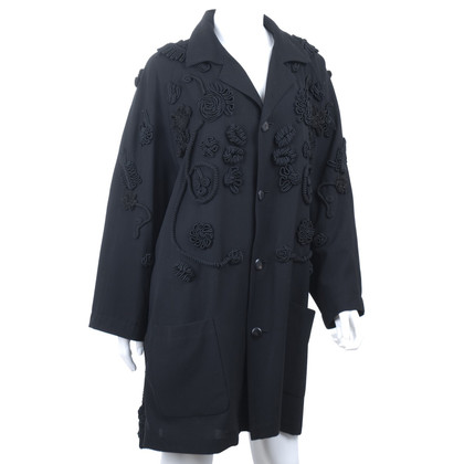 Yohji Yamamoto Coat with applications