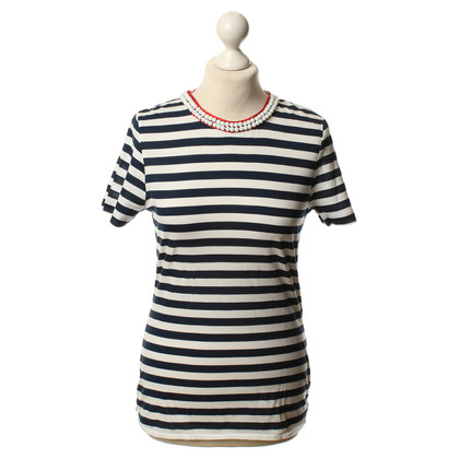 D&G top with stripe pattern