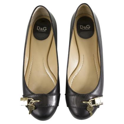 Dolce & Gabbana Ballerine in pelle nera