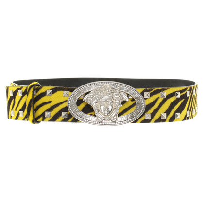 Versace Belt in black / yellow
