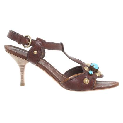 Miu Miu Sandaletten mit Ziersteinen