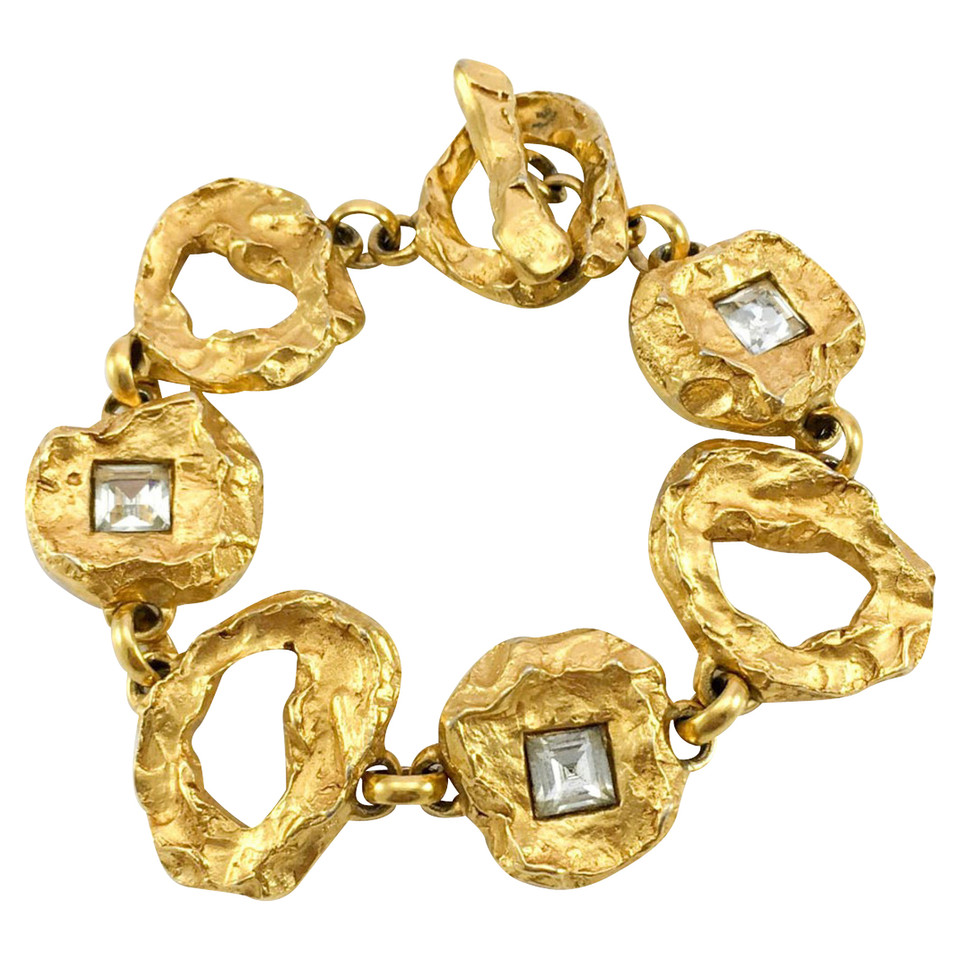 christian lacroix gold plated and crystals bracelet buy second hand christian lacroix gold. Black Bedroom Furniture Sets. Home Design Ideas