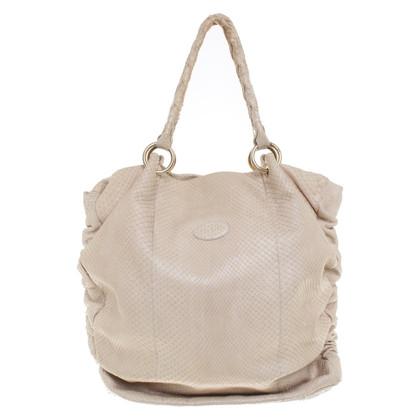 Tod's Python leather handbag
