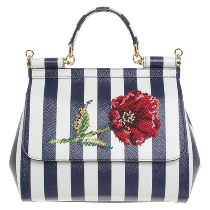 Dolce & Gabbana Handbag in blue / white