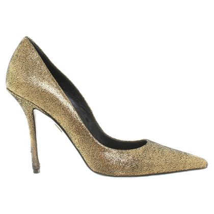 Roger Vivier Gold-colored leather-pumps