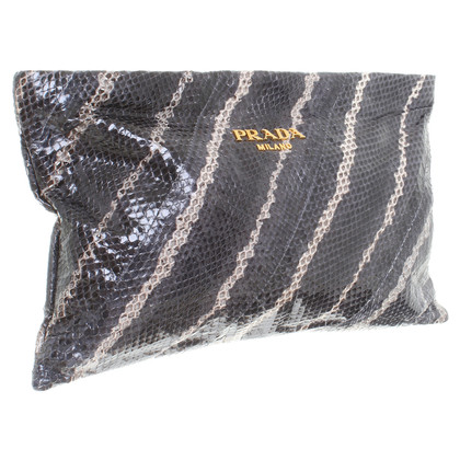 Prada clutch snake leather