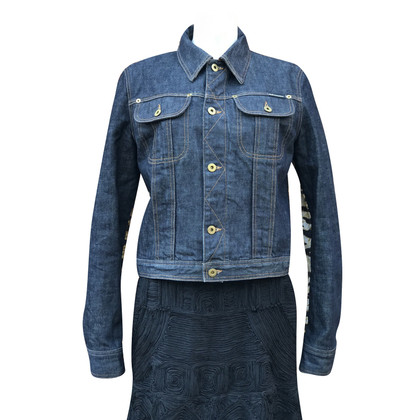 Dolce & Gabbana Jeans jacket with tiger print
