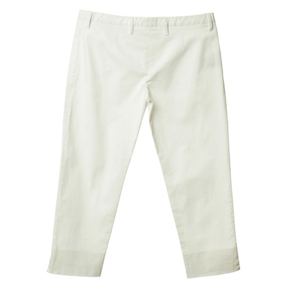 Prada Pantalone Capri in bianco
