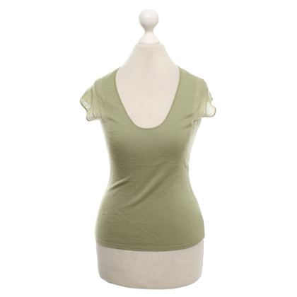 Yves Saint Laurent Knit top in green