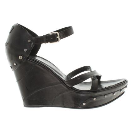Yves Saint Laurent Wedges in black