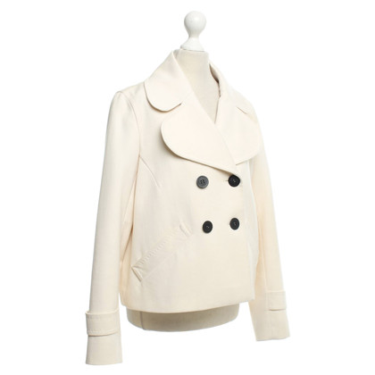 René Lezard Short jacket in cream white