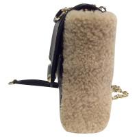 Diane von Furstenberg Bag catena con pelliccia di coniglio trim