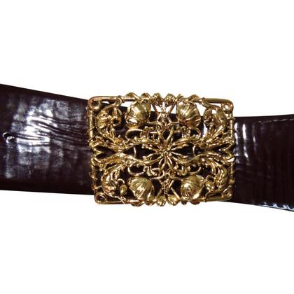 Roberto Cavalli Patent leather belt