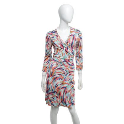 """Diane von Furstenberg Wikkel jurk """"Julian"""" in multicolor"""