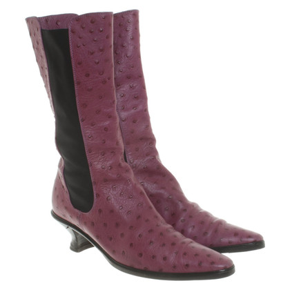 Walter Steiger Ostrich leather boots