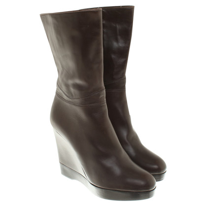 Jil Sander Boots in dark brown