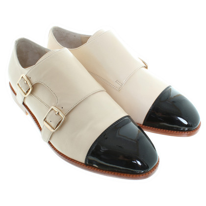 Kaviar Gauche Barcley monk shoes in cream/black