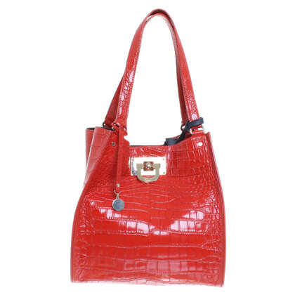 DKNY Handbag in reptile finish