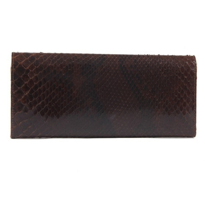 Christian Dior clutch Python leather